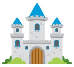 Medieval castle and knights images on medieval clipart Fantasy Castle, Fairytale Castle, Castle Clipart, Castle Cartoon, Logo Floral, Kids Castle, Castle Pictures, Building Illustration, Château Fort