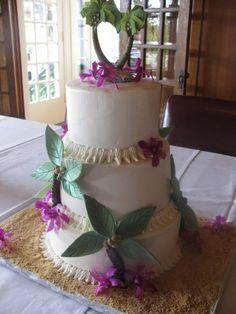 Hawaiian Wedding Cake- I like that the trees form a heart
