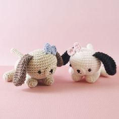 Cheeky Little Puppy Dog amigurumi pattern by LittleAquaGirl