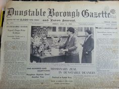 I found a copy of the Dunstable Gazette from 1936
