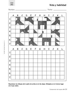 Art Worksheets, Worksheets For Kids, École Harry Potter, Visual Perception Activities, Occupational Therapy Activities, Graph Paper Art, Vision Therapy, Montessori Math, Thinking Skills