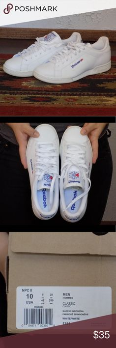 NEW Reebok classics Brand new never worn Reebok classic shoes. Men s size  women s size 12 Reebok Shoes Athletic Shoes 34a4939cb