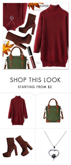 """""""Fall Sweater"""" by mycherryblossom ❤ liked on Polyvore featuring Gucci and Beauty Is Life"""