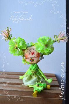 Шанз-Элизка. Текстильная куколка пфеффелька. Текстильная куколка на рыжее счастье. Елисейские Поля. Цветы Елисейских Полей
