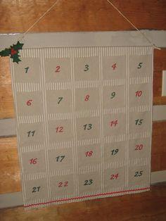 Carolina Country Living: No-Sew Fabric Advent Calendar