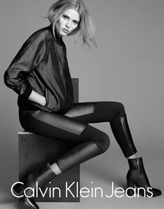 Lara Stone by Lachlan Bailey for Calvin Klein Jeans F/W 2014-15