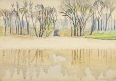 Pond In Spring (wade Park, Cleveland) May 1916 Artwork by Charles Burchfield