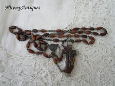 Vintage glass rosary 1930's French by Nkempantiques on Etsy