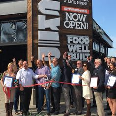 A great morning with the members of the Huntington Beach Chamber of Commerce! Ribbon Cutting at STACKED! #huntingtonbeach #ribboncutting #foodwellbuilt