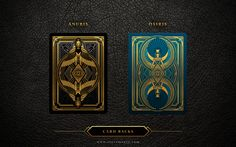 Back designs for both the Anubis and Osiris Decks. Backs will now feature metallic gold foiling.