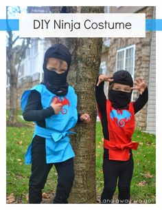 Halloween is here and the boys couldn& be more excited! It was decided months ago that they would be ninjas this year and after much delibe. Ninja Birthday Parties, Ninja Party, Ninja Halloween Costume, Halloween Kids, Halloween 2016, Halloween Makeup, Kids Costumes Boys, Boy Costumes, Costumes 2015