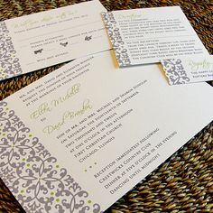 Cool & Classy Custom Color Wedding Invitation by PrEttYLiLNoTeS    i like these!!