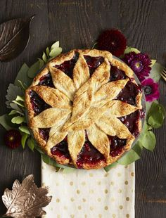 Very Berry Apple Pie: A trio of frozen berries is responsible for the gorgeous dark hue in this apple pie. Click through for more incredible Thanksgiving desserts.
