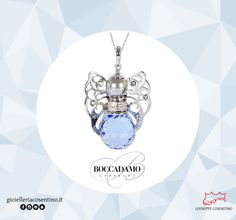 BOCCADAMO | Collezione Kerubina Collana con angelo in Swarovski sapphire ▪  Disponibile in vari colori presso Gioielleria Cosentino, Corso Manfredi 181 | Manfredonia (FG) | 0884.512858 FIND MORE ► http://www.gioielleriacosentino.it/it/brands #gioielleriacosentino #jewels #boccadamo #boccadamojewels #handmade #italiandesign #kerubina #swarovski