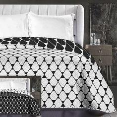 Kvalitné obojstranné prehozy na posteľ čierno biele
