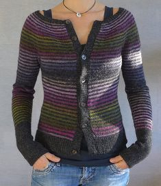 Knitting Patterns Cardigan Ravelry: My little striped vest pattern by Isabelle Milleret Cardigan Pattern, Knitting Designs, Free Knitting, Ravelry, Knitting Patterns, Crochet Patterns, Knit Crochet, Crochet Cardigan, Knitwear