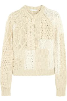 CARVEN,TWO-TONE MERINO WOOL-BLEND SWEATER
