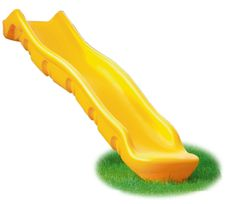 10' Roto-molded Scoop Slide. Commercial quality double walled slide. Available in green or yellow