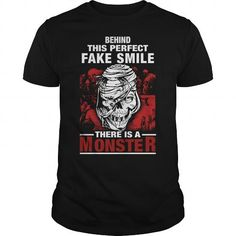 Awesome Tee Behind This Perfect Fake Smile There Is A Monster by tshirttrending----SVTDZRU T-Shirt