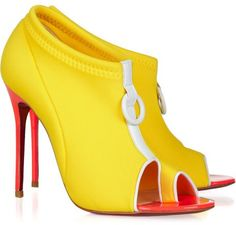 Christian Louboutin Snorkeling 100 neoprene and leather ankle boots