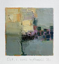 Oct. 1, 2012 - Original Abstract Oil Painting by hiroshimatsumoto