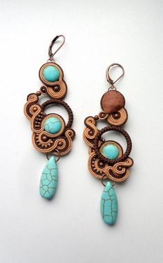 .soutache - earrings   mishtiart.blogspot.com - follow me! :)