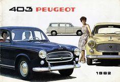 La Peugeot 403 est présentée à la presse et aux badauds parisiens en avant-première le 20 avril 1955 au Palais de Chaillot au Trocadero à Paris avant le Salon de l'auto d'octobre. Un Salon marqué par la futuriste Citroën DS mais la Peugeot est rassurante
