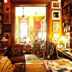 albert maysles & gillian walker « the selby - albert maysles - filmmaker; and gillian walker - therapist at their home harlem - sept 2010 Harlem, Image Deco, Dream Library, Cozy Library, Library Room, Magical Library, Tadelakt, Deco Boheme, Personal Library