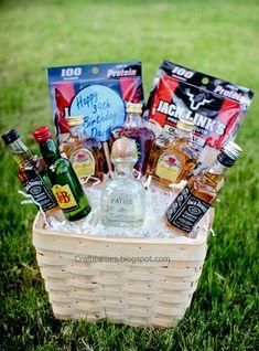 Basket of BOOZE :) Fun GUY birthday gift /Father's day idea