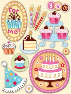 birthday scrapbook stickers - Google Search