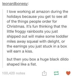 When they discovered the true meaning of Christmas.
