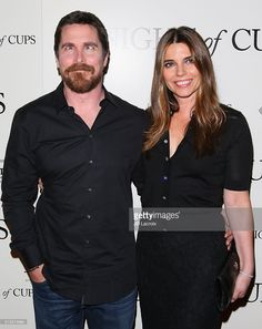 Christian Bale and Sibi Blazic attend the premiere of Broad Green Pictures' 'Knight of Cups' held at The Theatre at Ace Hotel on March 1, 2016 in Los Angeles, California.