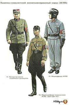 German - my best guess is ranks from the National Socialist Motor Corps (judging by the Russian abbreviation of HCMK)
