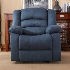 Andover Mills Parkmead Recliner Upholstery: Chambray Blue