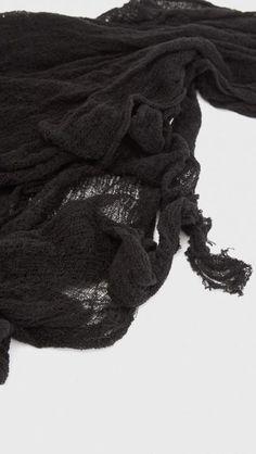 Raquel Allegra Shredded Perfect Scarf in Black | The Dreslyn