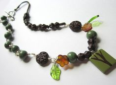 Mixed Media Necklace Inspired by Trees Necklace Tutorial, Diy Necklace, Scrabble Tiles, How To Make Necklaces, Mixed Media, Pendants, Bracelets, Gifts, Inspiration