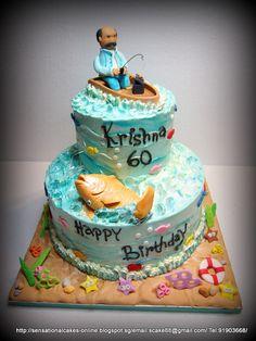 Fishing+Birthday+Cakes+for+Men | Fishing Birthday Cakes For Men Happy birthday mr krishnan