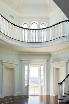 That pastel blue! {Georgian Architecture - An Anglo-Grecian Country House}