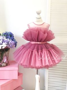 Baby Birthday Dress, Birthday Dresses, Girl Birthday, Newborn Girl Dresses, Baby Dress, Girls Dresses, Selling Handmade Items, Wedding Dress Chiffon, Handmade Baby
