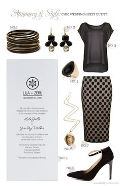 Stationery & Style: Chic Wedding Guest Outfit
