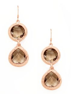 Leslie Danzis Semi-Precious Double Teardrop Earrings