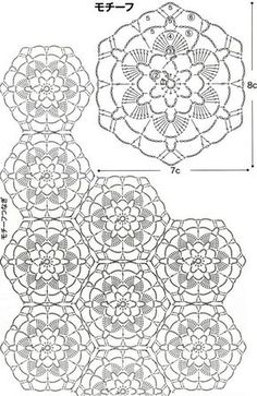 Floral motifs for napkins and tablecloths