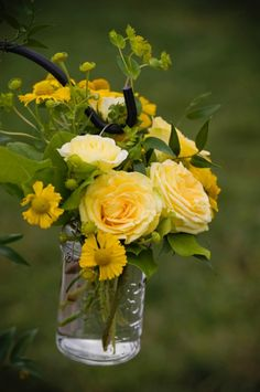 Yellow bouquets. Beautiful!