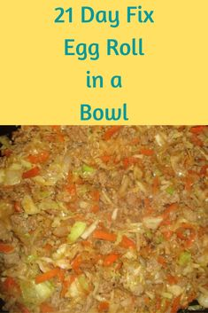 Egg Roll in a Bowl is a combination of ground meat, shredded veggies, and an Asian sauce with, all the flavors of Chinese take out, but healthy. 21DF counts are included.