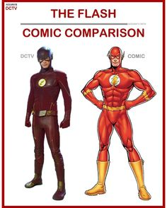 """66 Likes, 2 Comments - • Accurate.DCTV • dctv fanpage (@accurate.dctv) on Instagram: """"• The Flash - Comic Comparison • I think for trying to adapt the classic, recognizable flash…"""""""