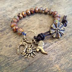 Cowboy Knotted Leather Wrap Bracelet,  Rustic Jewelry $37.00