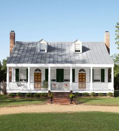 Historic Mississippi Farmhouse Gets a Stunning Restoration by Between Naps on the Porch.