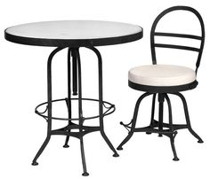 Marble Adjustable Bistro Table
