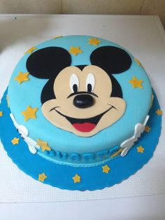 Pastel Micky Mouse, Bolo Da Minnie Mouse, Pastel Mickey, Mickey And Minnie Cake, Bolo Mickey, Mickey Cakes, Mickey Mouse Birthday Decorations, Theme Mickey, Mickey Mouse First Birthday