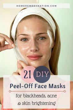21 DIY Peel-Off Face Masks
